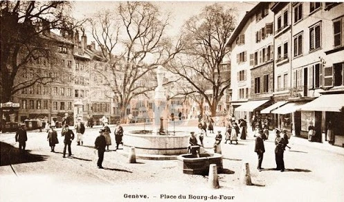 ancienne photo de la place du bourg de four