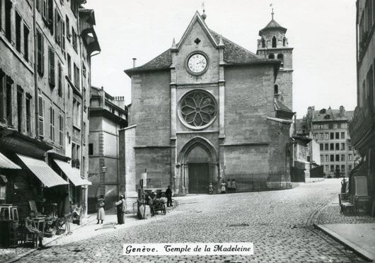 ancienne photo de l'église de la madeleine
